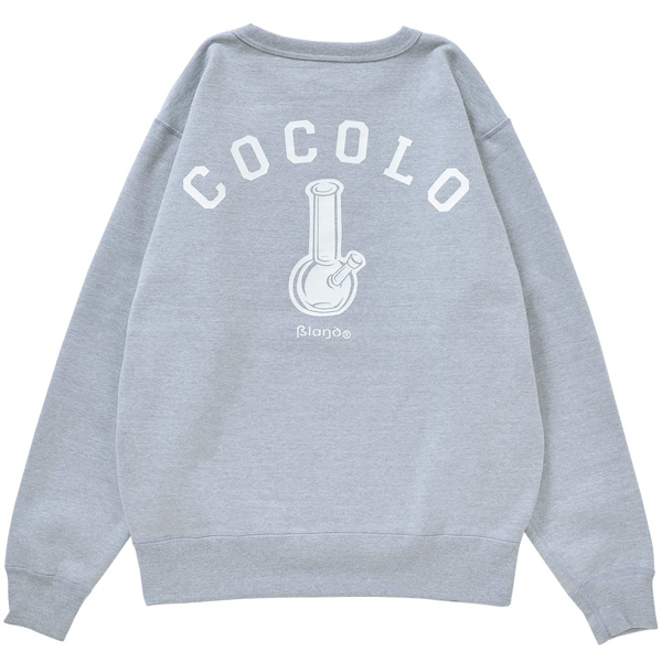 画像1: BACK BONG HEAVY CREWNECK (GREY) (1)