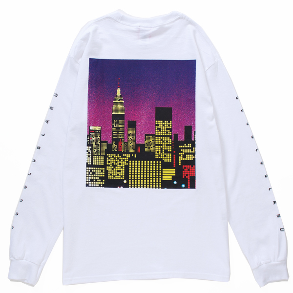画像1: URBAN LOCAL L/S TEE (WHITE)