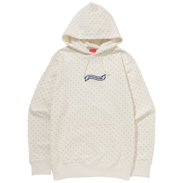 画像1: SALE!! DOT RIBBON HOODIE (OFF WHITE) (1)