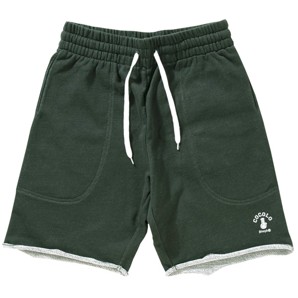 画像1: CUT OFF SWEAT SHORTS (DARK GREEN) (1)