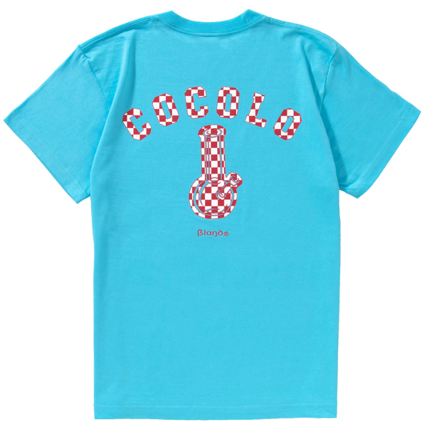 画像1: CHECKER BONG S/S TEE (LT-BLUE) (1)