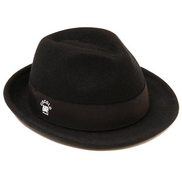 画像1: 韻シスト 20th ANNIVERSARY × COCOLO BLAND W-NAME FELT HAT / SAKKON モデル(BLACK) (1)