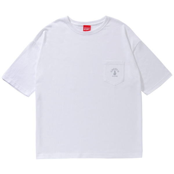 画像1: BONG WIDE POCKET S/S TEE (WHITE) (1)