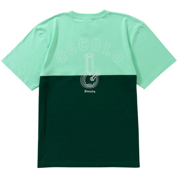 画像1: HALF CUT OUTLINE BONG S/S TEE (GREEN) (1)