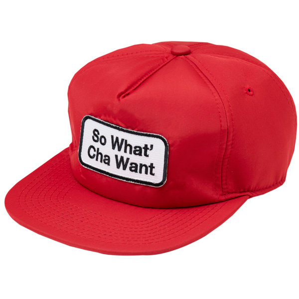画像1: SO WHAT' CHA WANT NYLON CAP (RED) (1)