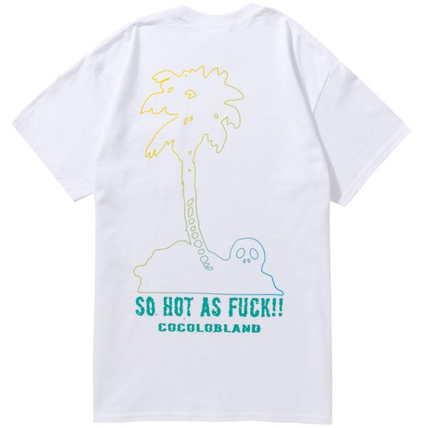 画像1: SALE SKULL PALM TREE POCKET TEE (WHITE) (1)