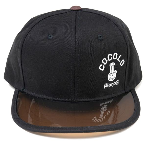 画像1: CLEAR VISOR SNAPBACK CAP (BLACK/BROWN VISOR) (1)