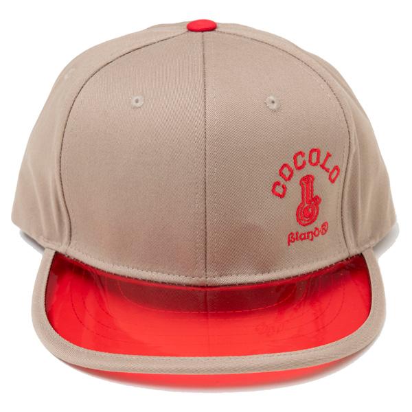 画像1: CLEAR VISOR SNAPBACK CAP(BEIGE/RED VISOR) (1)