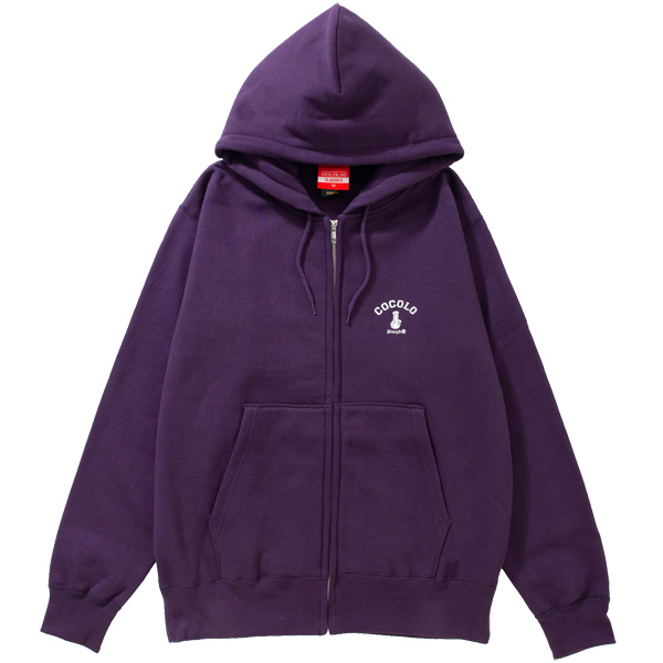 画像1: BACK BONG HEAVY ZIP PARKA (PURPLE) (1)
