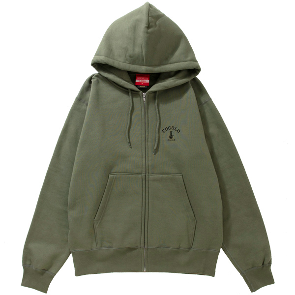 画像1: BACK BONG HEAVY ZIP PARKA (OLIVE) (1)