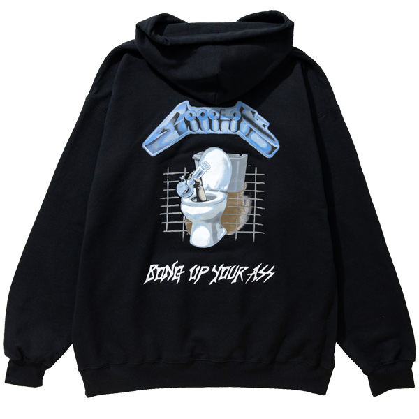 画像1: BONG UP YOUR A☆☆ HOODIE  (1)