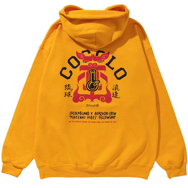 画像1: COCOLO BLAND×AKAZUCHI W-NAME BONG HOODIE(GOLD) (1)