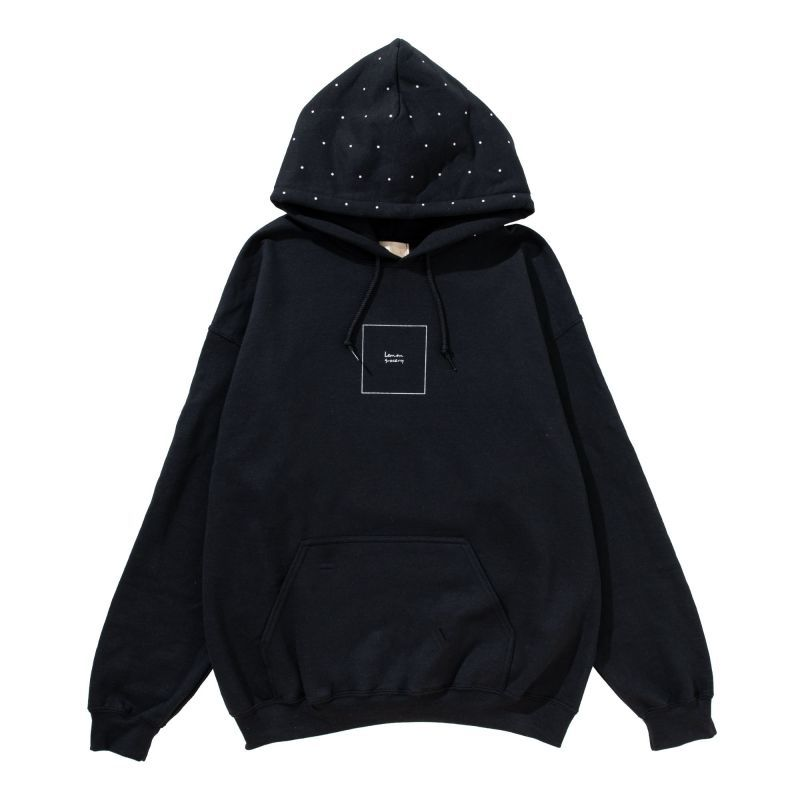 画像1: LEMONGROCERY DOT HOOD PARKA(BLACK) (1)