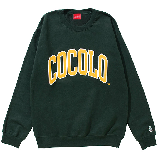 画像1: COLLAGE LOGO CREW(FOREST GREEN) (1)