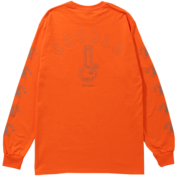 画像1: REFLECTOR BONG SLEEVE L/S TEE(NEON ORANGE) (1)