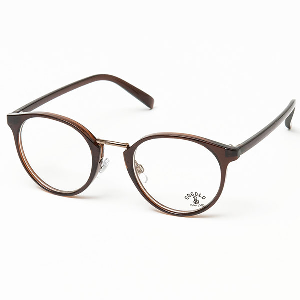 画像1:  TOY SUNGLASS BOSTON(BROWN/CLEAR) (1)