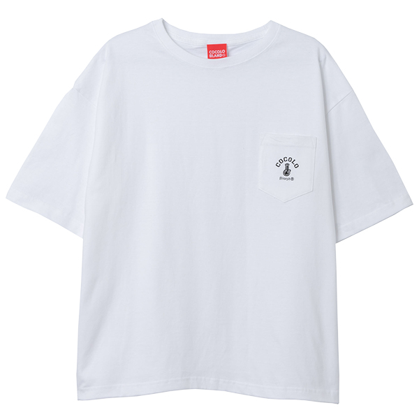 画像1: POCKET WIDE S/S  (WHITE) (1)