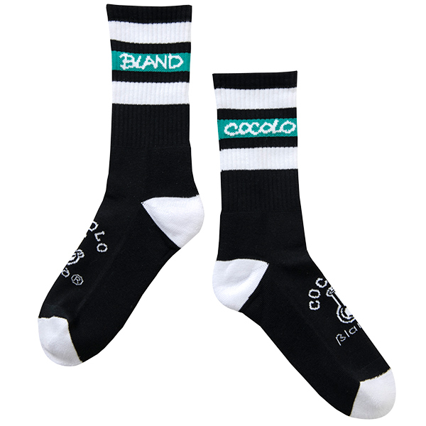 画像1: BONG LINE SOCKS (BLACK) (1)