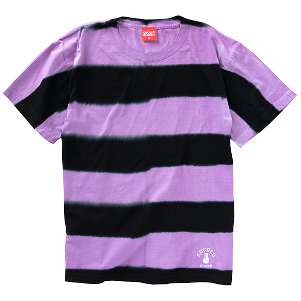 画像1: TIE-DYE BORDER TEE (PURPLE) (1)