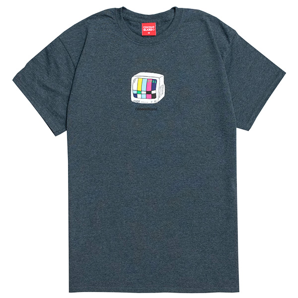 画像1: TV S/S TEE (DARK HEATHER) (1)