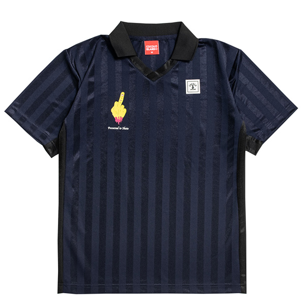 画像1: POSSESSED TO SKATE GAME SHIRTS (NAVY) (1)