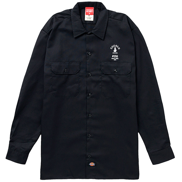 画像1: #556 WORK LONG SLEEVE SHIRTS  (BALCK) (1)