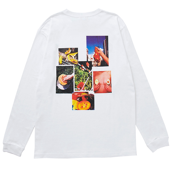 画像1: FRUITS CITY L/S TEE (WHITE) (1)