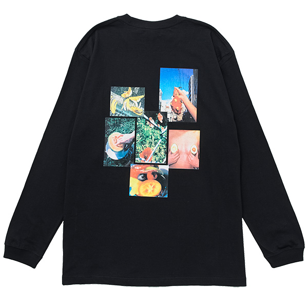 画像1: FRUITS CITY L/S TEE (BLACK) (1)