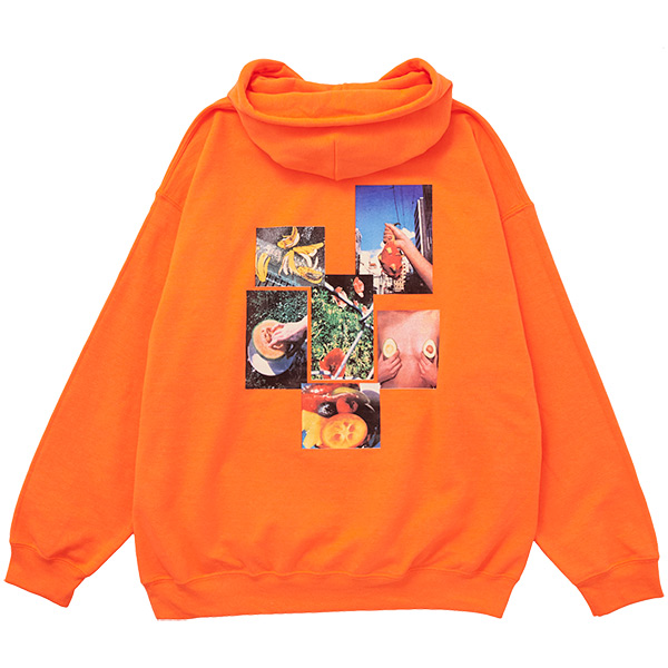 画像1: FRUITS CITY HOODIE (NEON ORANGE) (1)