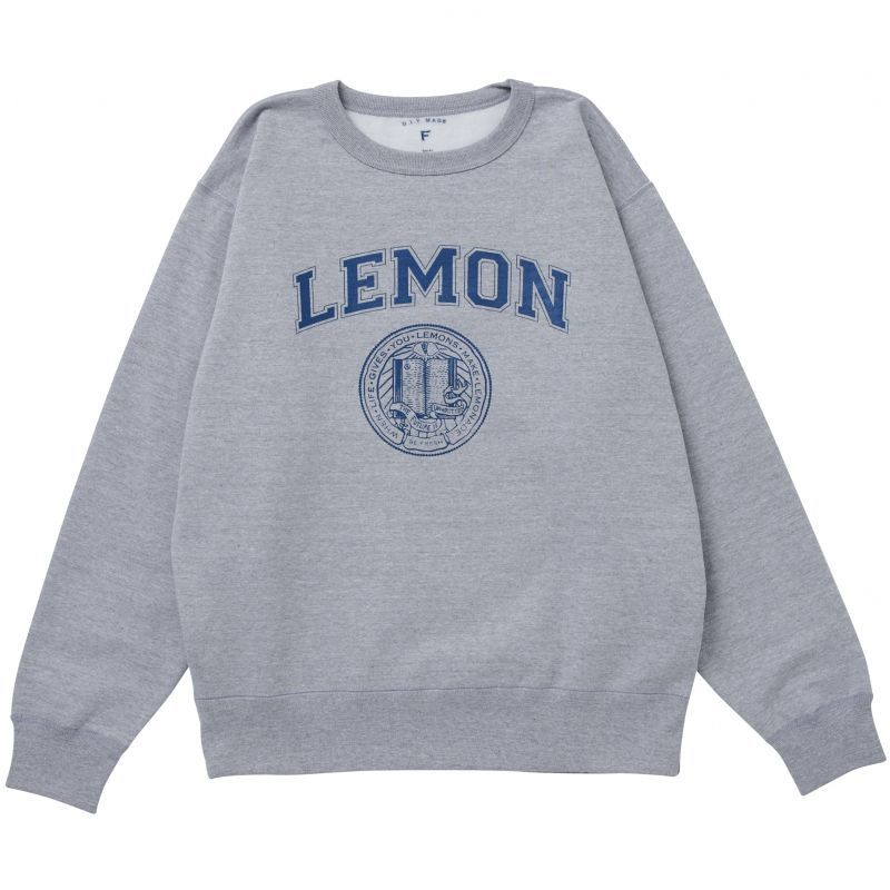 画像1: LEMON COLLEGE SWEAT(NAVY) (1)