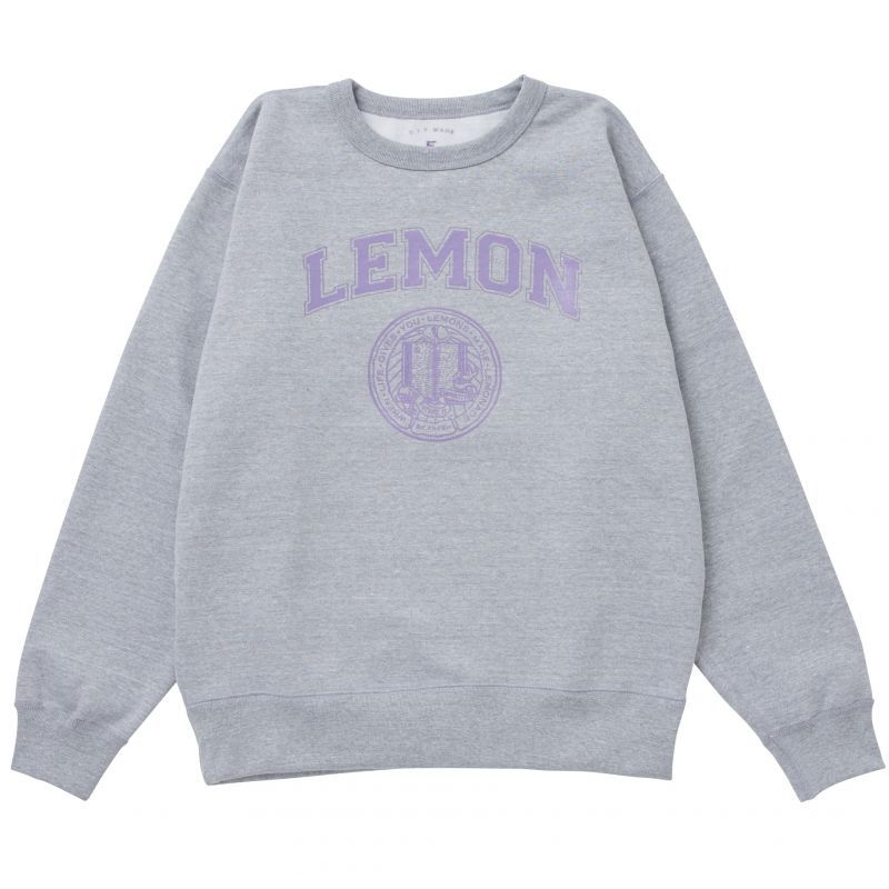 画像1: LEMON COLLEGE SWEAT(PURPLE) (1)