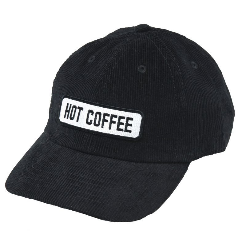 画像1: HOT COFFEE CORD CAP (BLACK) (1)