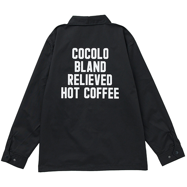 画像1: HOT COFFEE COTTON JKT(BLACK) (1)