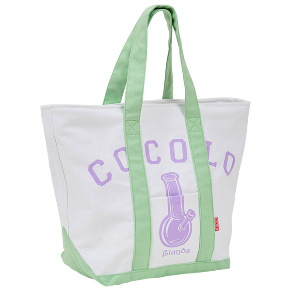画像1: CLASSIC BONG TOTE BAG (WHITE/Lt-GREEN) (1)