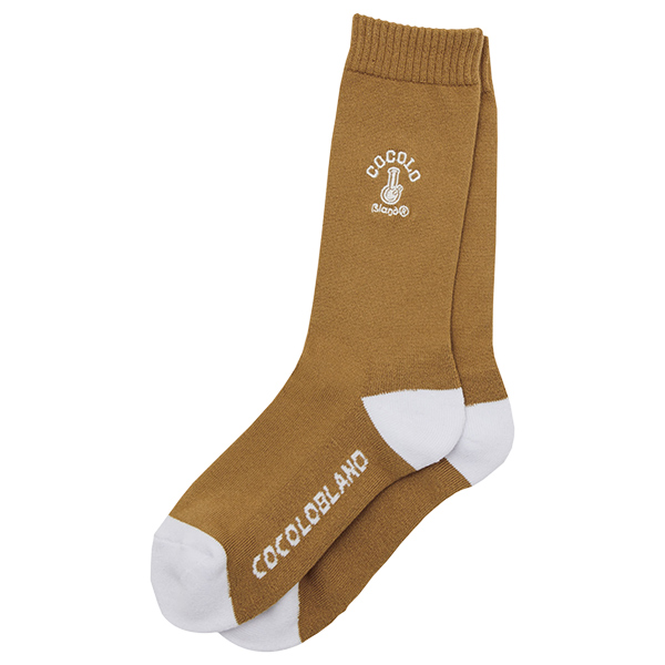 画像1: BONG EMBROIDERY SOCKS (BROWN) (1)