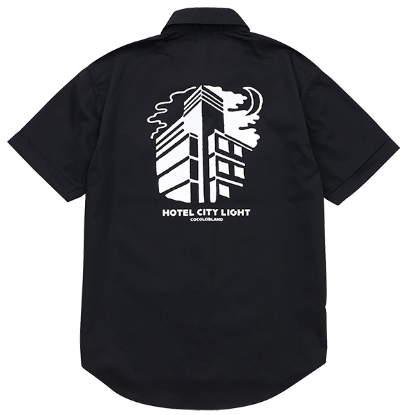 画像1: HOTEL CITY LIGHT WORK SHIRTS  (BLACK) (1)