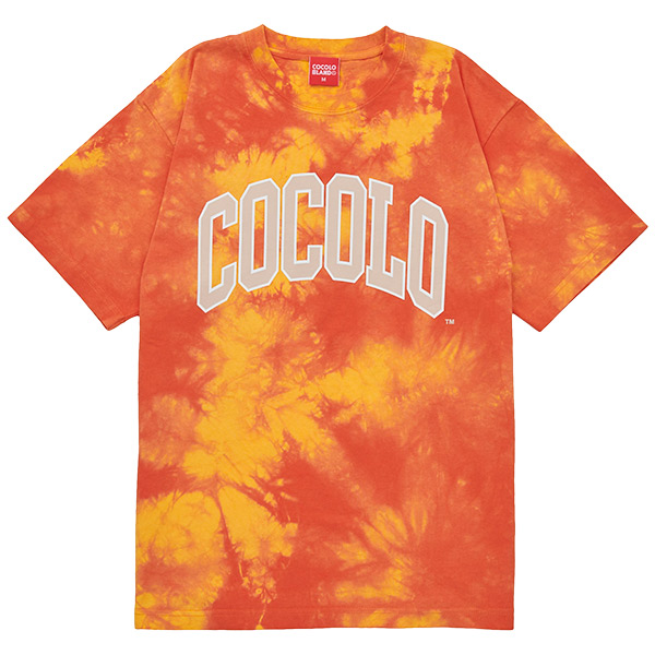 画像1: COLLAGE LOGO S/S TEE (TIE DYE ORANGE) (1)