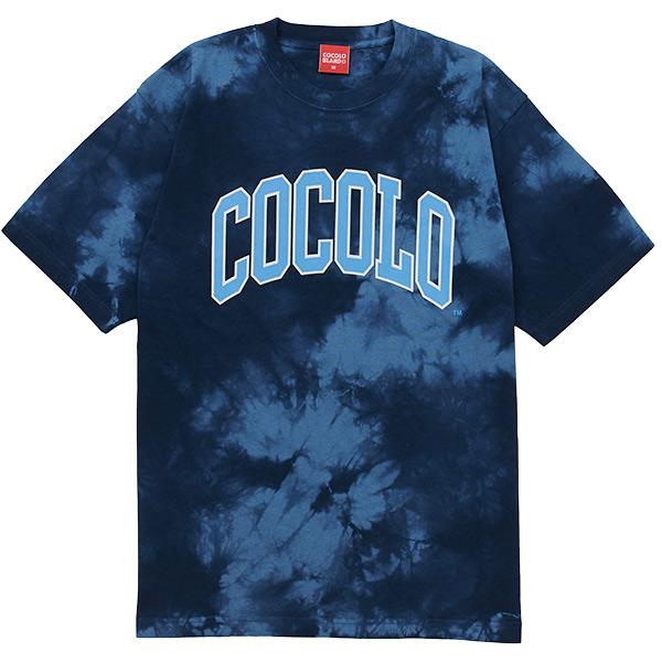 画像1: COLLAGE LOGO S/S TEE (TIE DYE BLUE) (1)