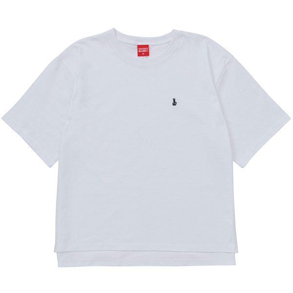 画像1: EMBROIDERY  BONG WIDE S/S TEE (WHITE) (1)