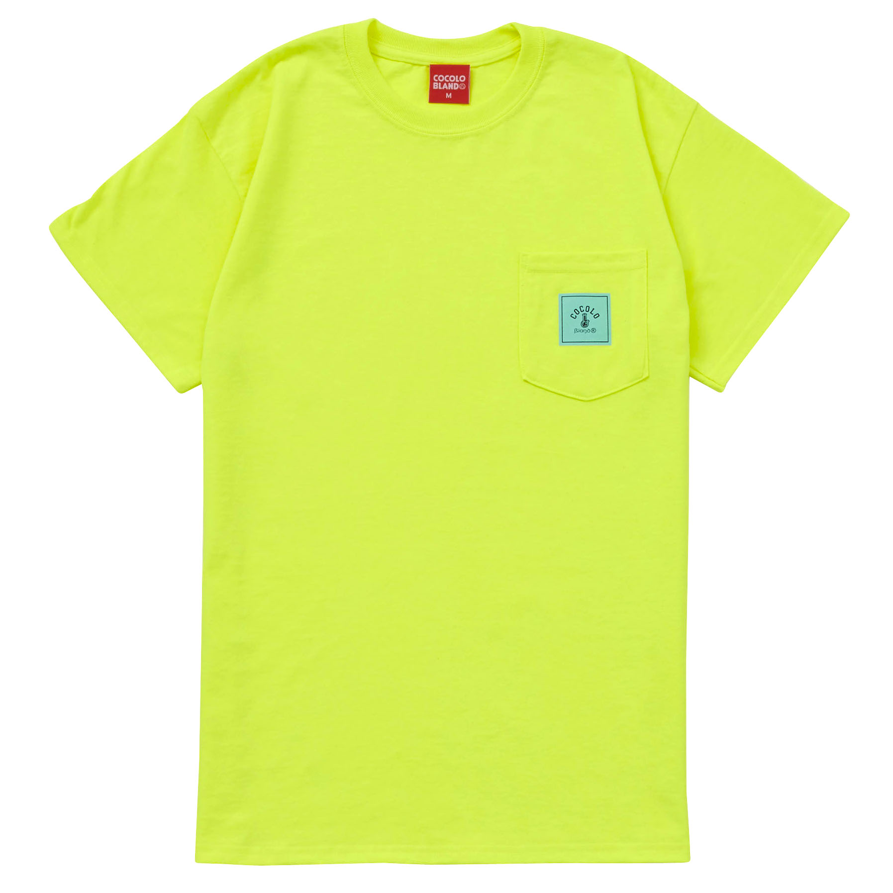 画像1: SQUARE LOGO POCKET S/S TEE(NEON) (1)