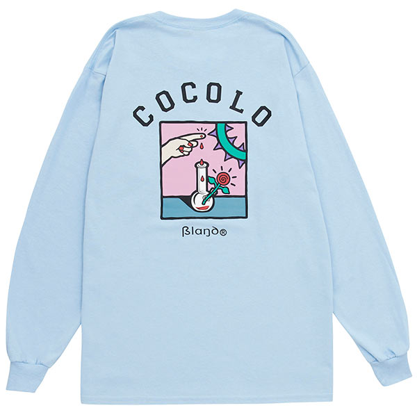画像1: COCOLO BLAND x 5el L/S TEE (LT-BLUE) (1)