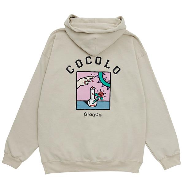 画像1: COCOLO BLAND x 5el  HOODIE (SAND) (1)