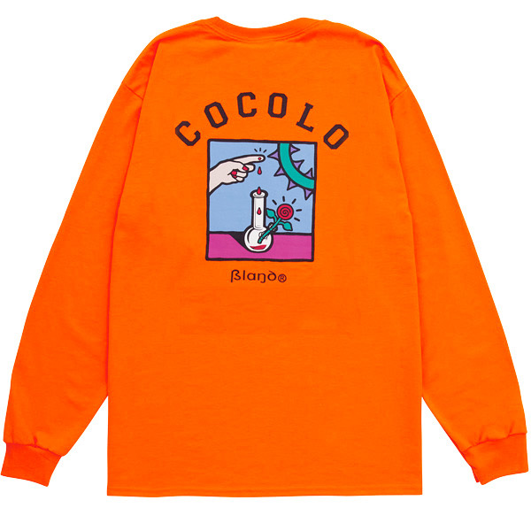 画像1: COCOLO BLAND x 5el  L/S TEE (NEON ORANGE) (1)