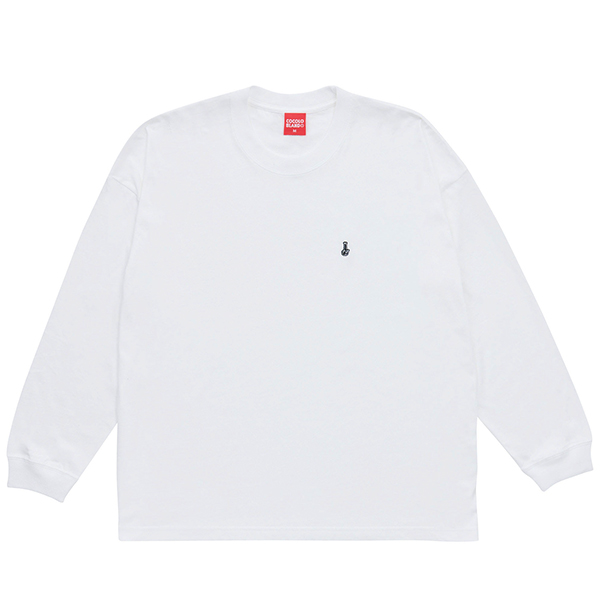 画像1: EMBROIDERY BONG WIDE L/S(WHITE) (1)