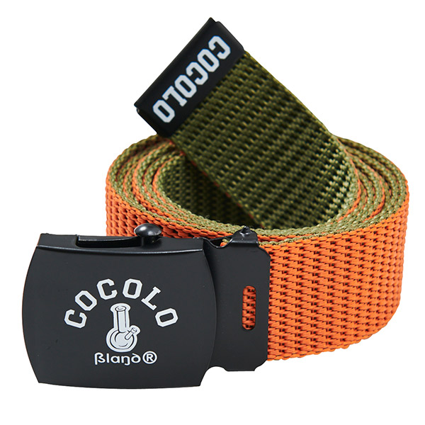 画像1: REVERSIBLE GI BELT(ORANGE/OLIVE) (1)