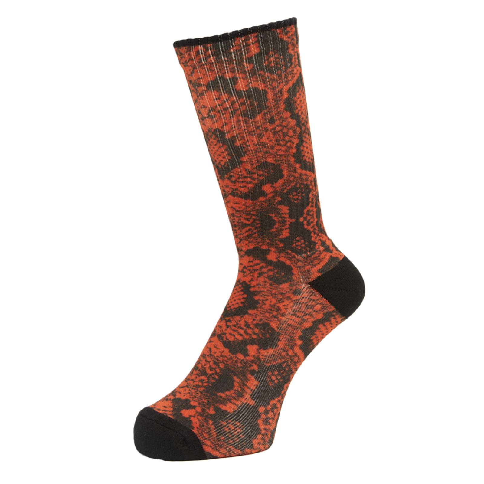 画像1: WHIMSY SNAKE SKIN SOCKS (ORANGE) (1)