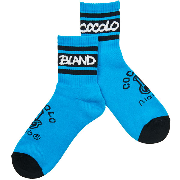 画像1: BONG LINE SHORT SOCKS (BLUE) (1)