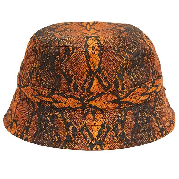 画像1: WHIMSY SNAKE SKIN HAT (ORANGE) (1)