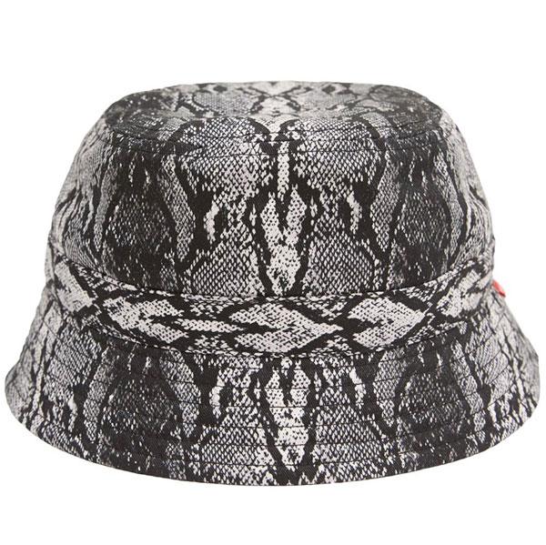 画像1: WHIMSY SNAKE SKIN HAT (WHITE) (1)