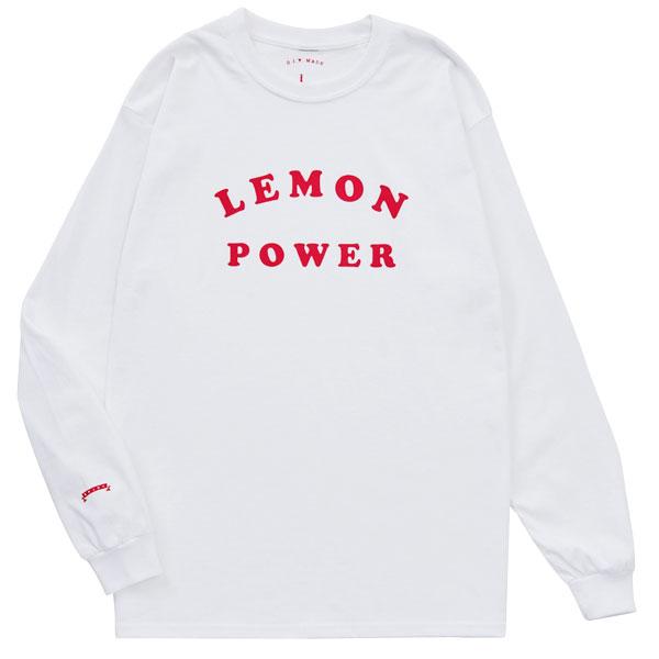 画像1: LEMON POWER L/S (WHITE) (1)